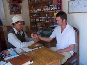 Consultation with a Tibetan naturopathic Doctor